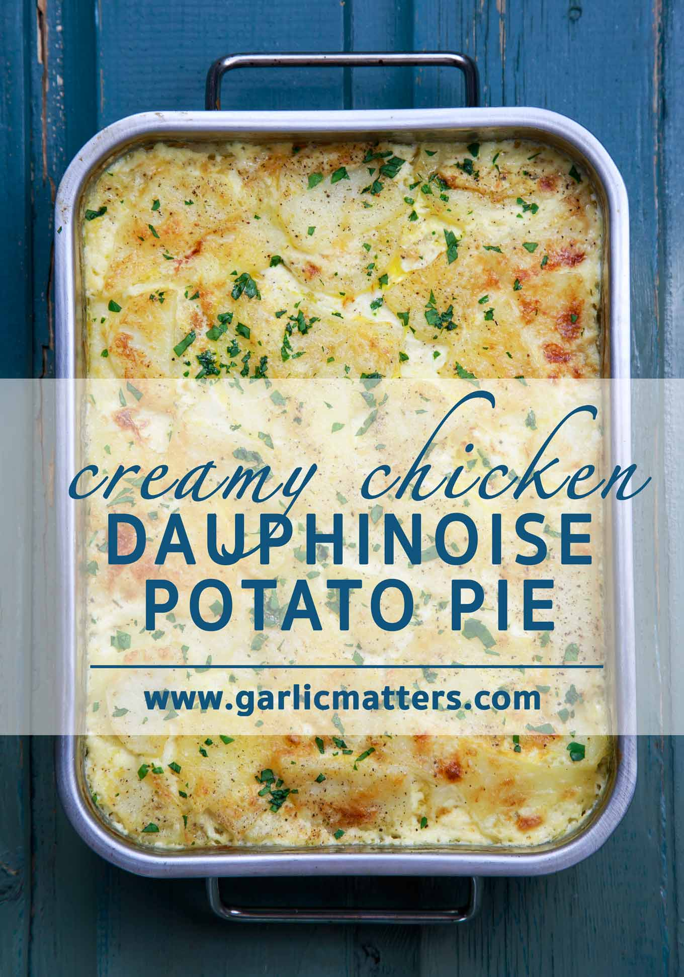 Creamy Chicken Dauphinoise Potato Pie Bake is what Autumn, home-cooked meals are all about. Delicious, simple, comfort food style recipe for 6.