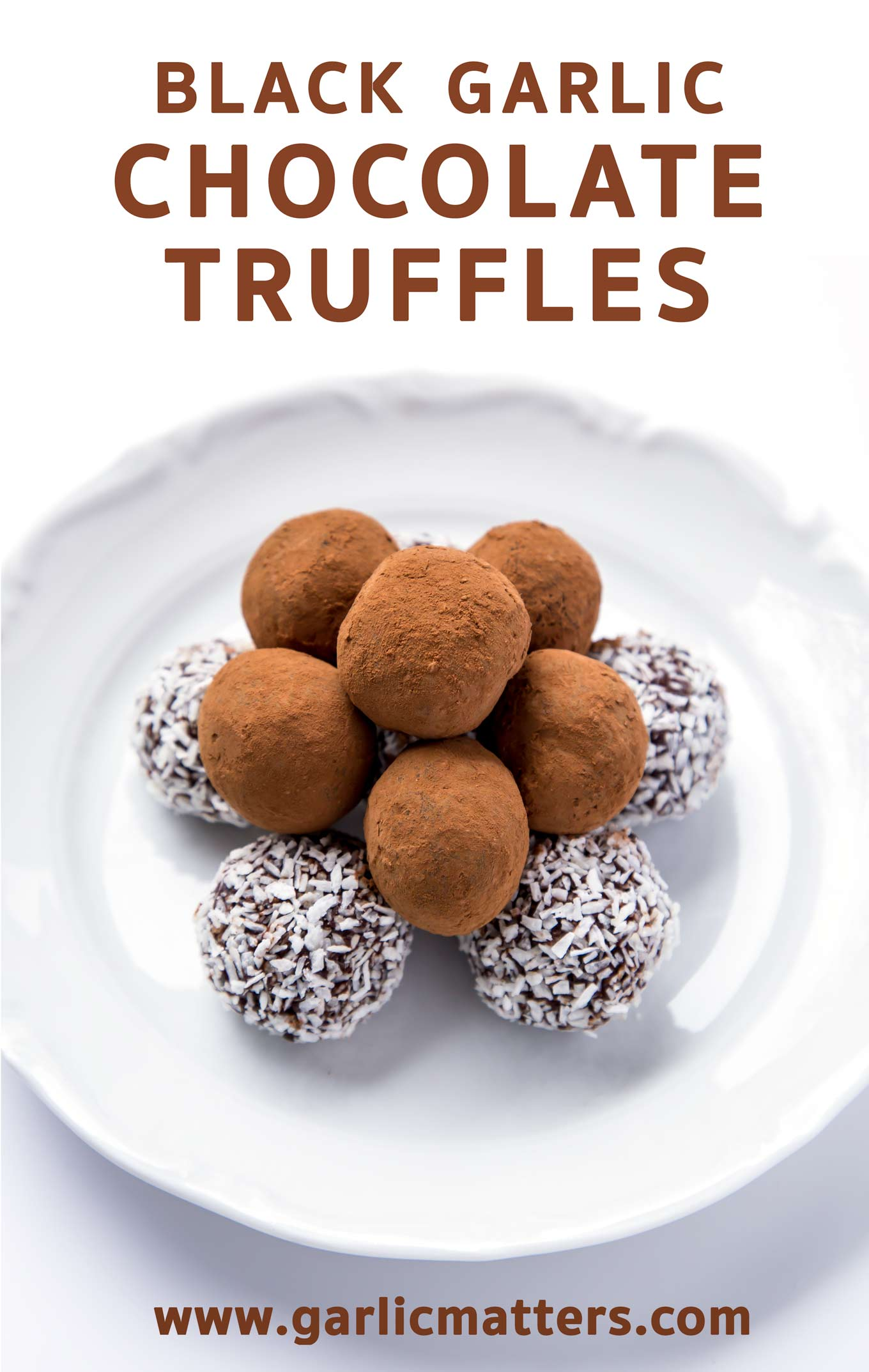 Black garlic chocolate truffles recipe is the most delicious combination - a must try for any chocolate lover!