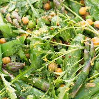 ASPARAGUS AND SNOW PEA SALAD RECIPE
