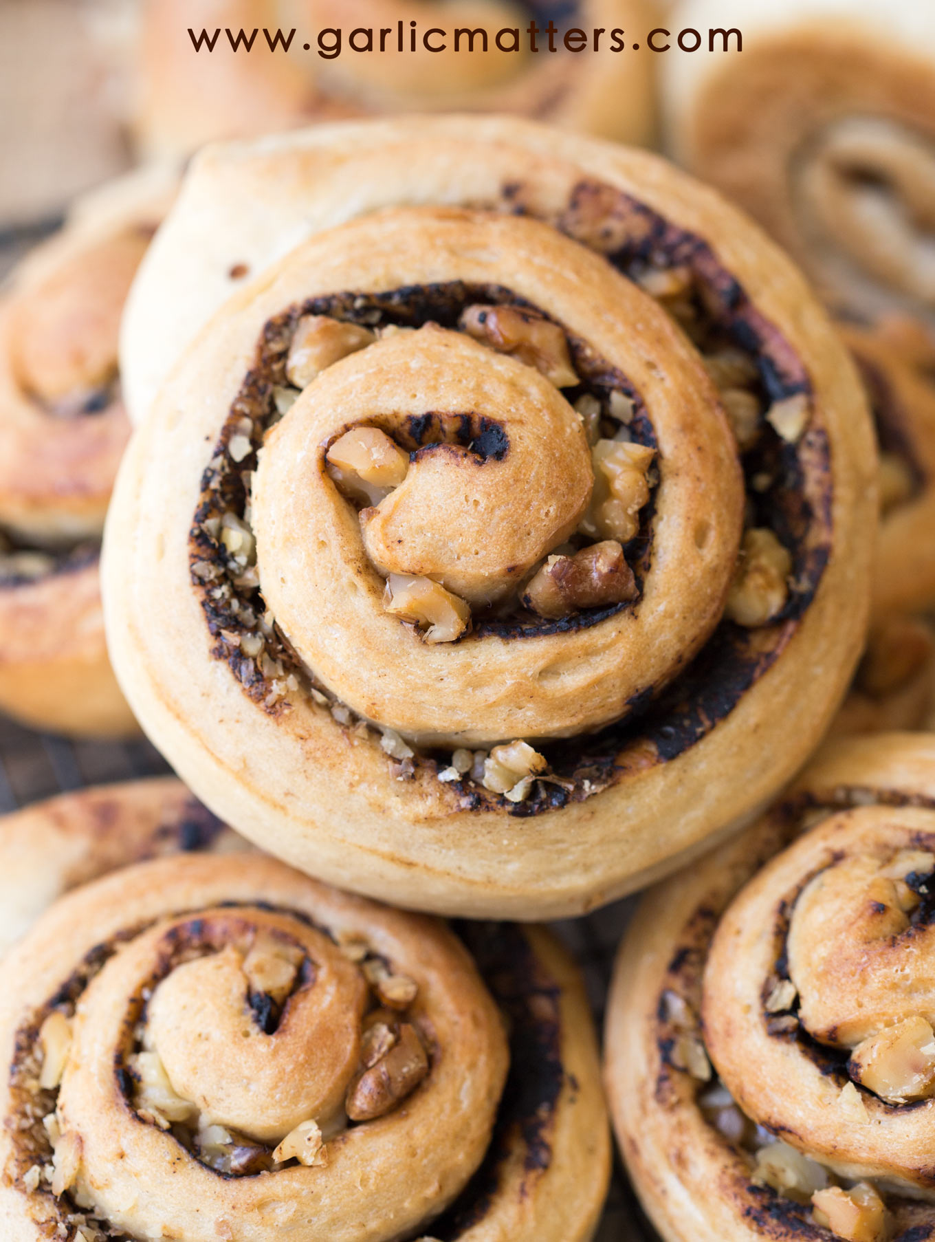 Walnut and Black Garlic Bread Rolls are perfect as a vehicle for any topping, sweet or savoury. Easy recipe, divine flavour!