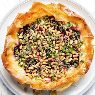 Beet, Honey and Pine Nut Tart is a perfect, light, summer lunch recipe idea.