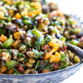 SUN-DRIED TOMATO LENTIL SALAD
