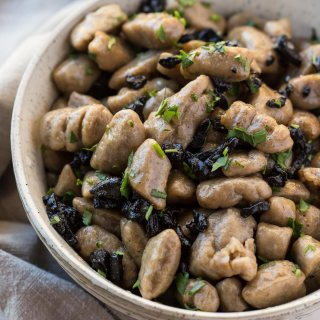 EASY BLACK GARLIC GNOCCHI WITH BUTTER SAUCE