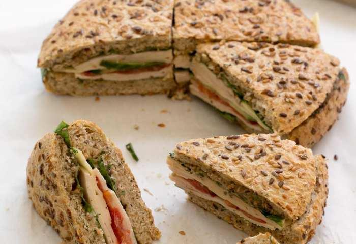 Pressed Picnic Sandwich With Black Garlic Mayo Garlic Matters