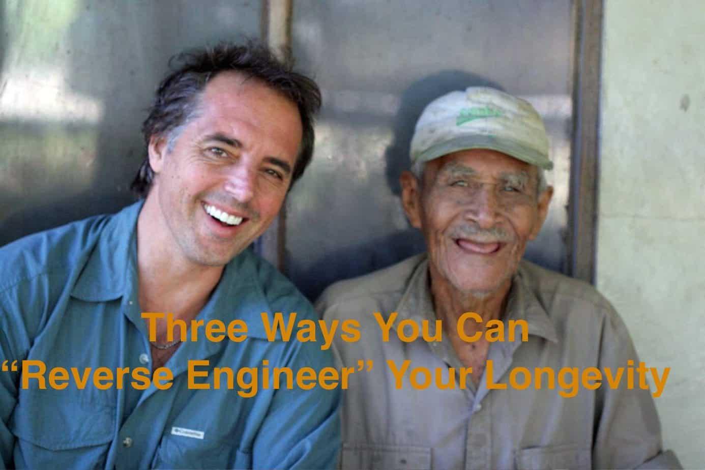 Dan Buettner with 100 yr old Felipe Gudoy