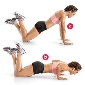 bend knee push-up