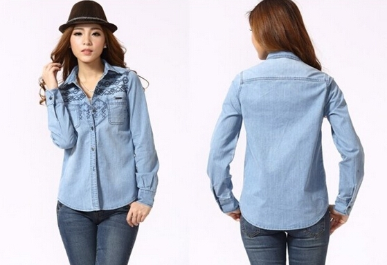 Denim washed jacket