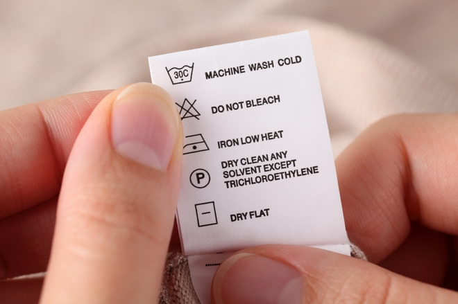 Different Types of Care Instructions for Clothing or Apparel
