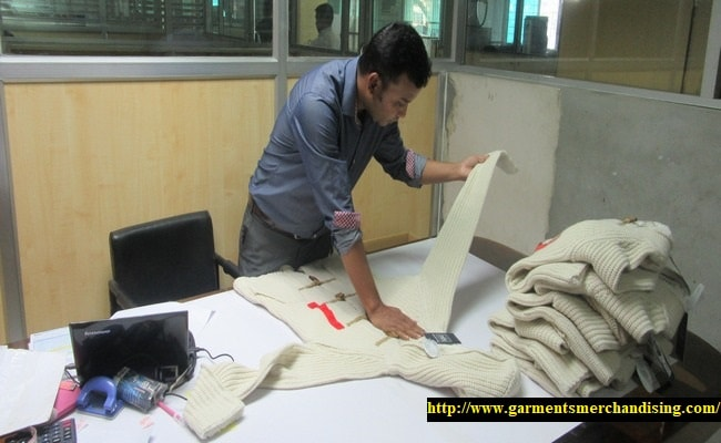 Final inspection of garments