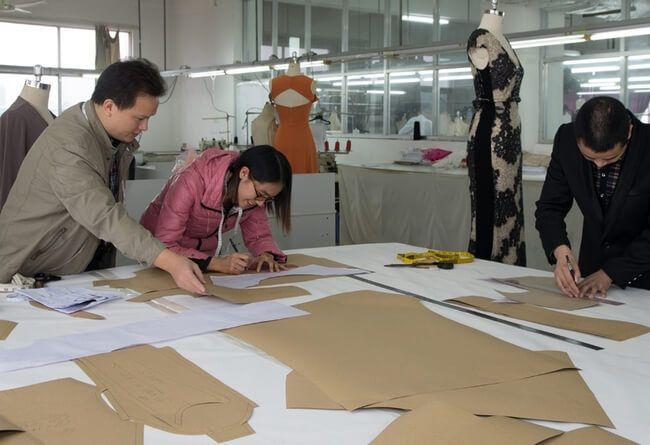 Garment pattern making department
