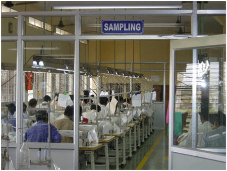 Sample section in Apparel Industry