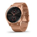 vívomove® Luxe 18K Rose Gold PVD Stainless Steel Case with Rose Gold Milanese Band