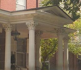 Fluted Corinthian columns and a pediment!