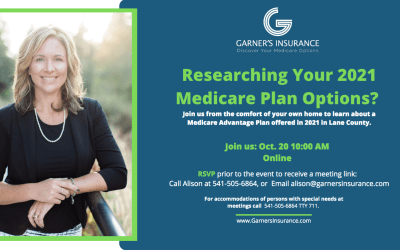 October 20th Virtual Event: Medicare Advantage Plan in Lane County