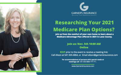 November 5th Virtual Event: Medicare Advantage Plan in Lane County