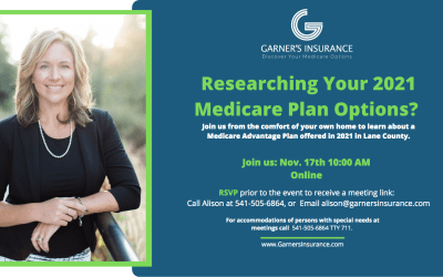 November 17th Virtual Event: Medicare Advantage Plan in Lane County