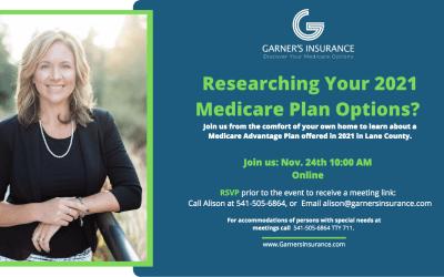 November 24th Virtual Event: Medicare Advantage Plan in Lane County