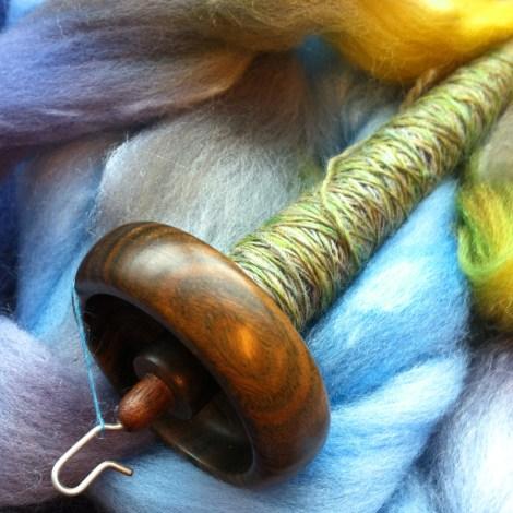 Merino/silke i farven