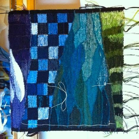 Og her er den grønne maj-sektion halvfærdig. Jeg har vel taget billedet - og så gået i stå! ..