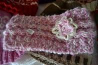Headband improvised with crochet flower.
