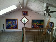 Gallery around the stairs...