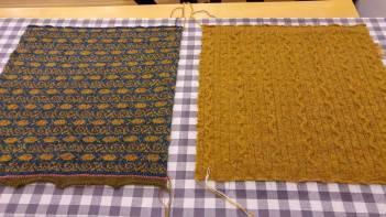 Blocking 2 of the 4 squares, each 40 cm x 40 cm.