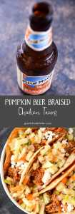 Pumpkin Beer Braised Chicken Tacos