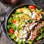 Slow Cooker Steak Salad with Cilantro Lime Dressing