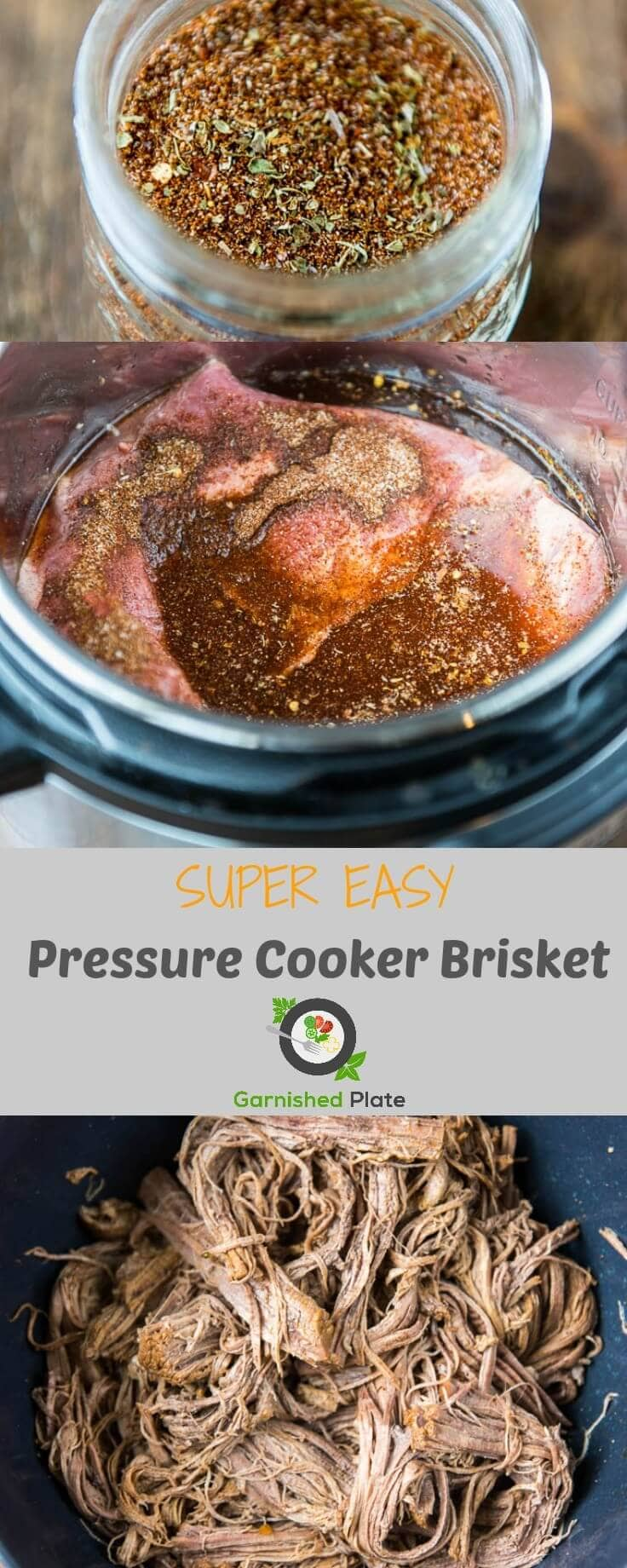 It's time to rethink the meaning of quick dinners! With this Pressure Cooker Brisket you can have amazing shredded beef perfect for sandwiches, tacos and more in just about an hour!