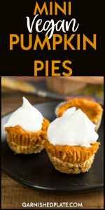 Vegan and low carb mini pumpkin pies make the perfect dessert for those looking for a healthy treat!