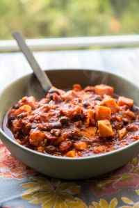 Chipotle Sweet Potato Chili with Black Beans is perfect for a quick weeknight dinner and is dairy-free, gluten-free and vegan! Spicy, delicious and filling!
