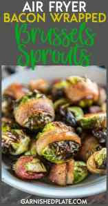 If you struggle to eat your veggies because you think they're boring or difficult to make, then it's time to try these Air Fryer Bacon Wrapped Brussels Sprouts! Easy to make, tender and bursting with flavor, you'll have everyone begging to eat their veggies!