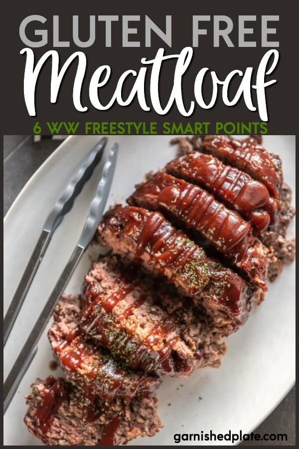 This Easy Gluten Free Meatloaf is so simple to make and can be customized with your favorite sauces and spices! #glutenfree #meatloaf #garnishedplate #comfortfood #dinner #beefrecipe #glutenfreemeatloaf