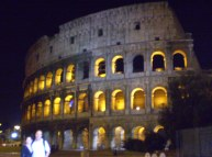 Unfortunately, flying around the back seat of a cab is not great for pictures of the Colosseum.