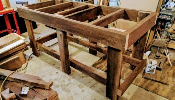 Brilliant Overbuilt Workbench Made Out Of Solid Oak Planed With A Pdpeps Interior Chair Design Pdpepsorg