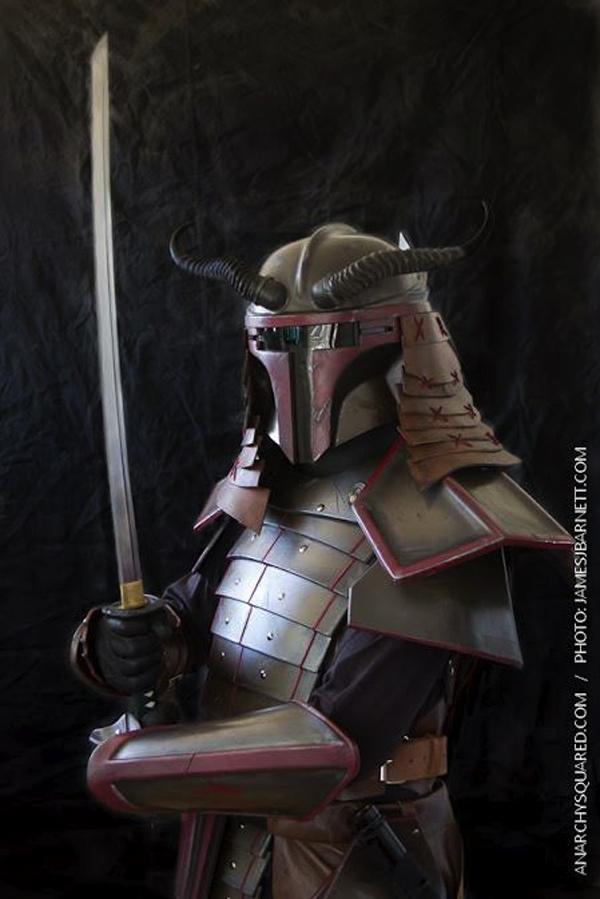 Cosplay Boba Fett Samurai