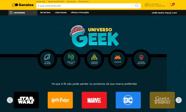 Saraiva lança loja geek - Público encontra livros, games, filmes e diversos outros itens relacionados ao tema