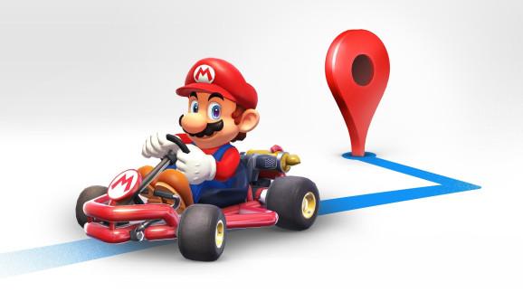 Google Maps em modo Mario Kart