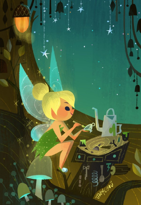 Joey Chou: Artista ilustra personagens no estilo da Mary Blair
