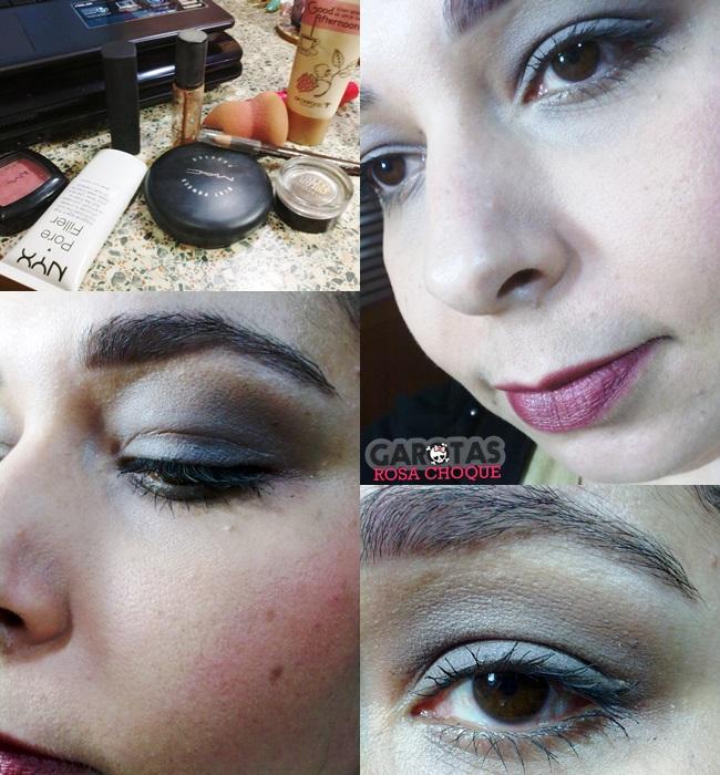 maquiagem taupe e burgundy