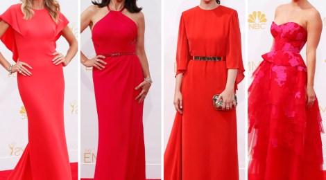 O auge do vestido vermelho Red carpet Emmy awards 2014