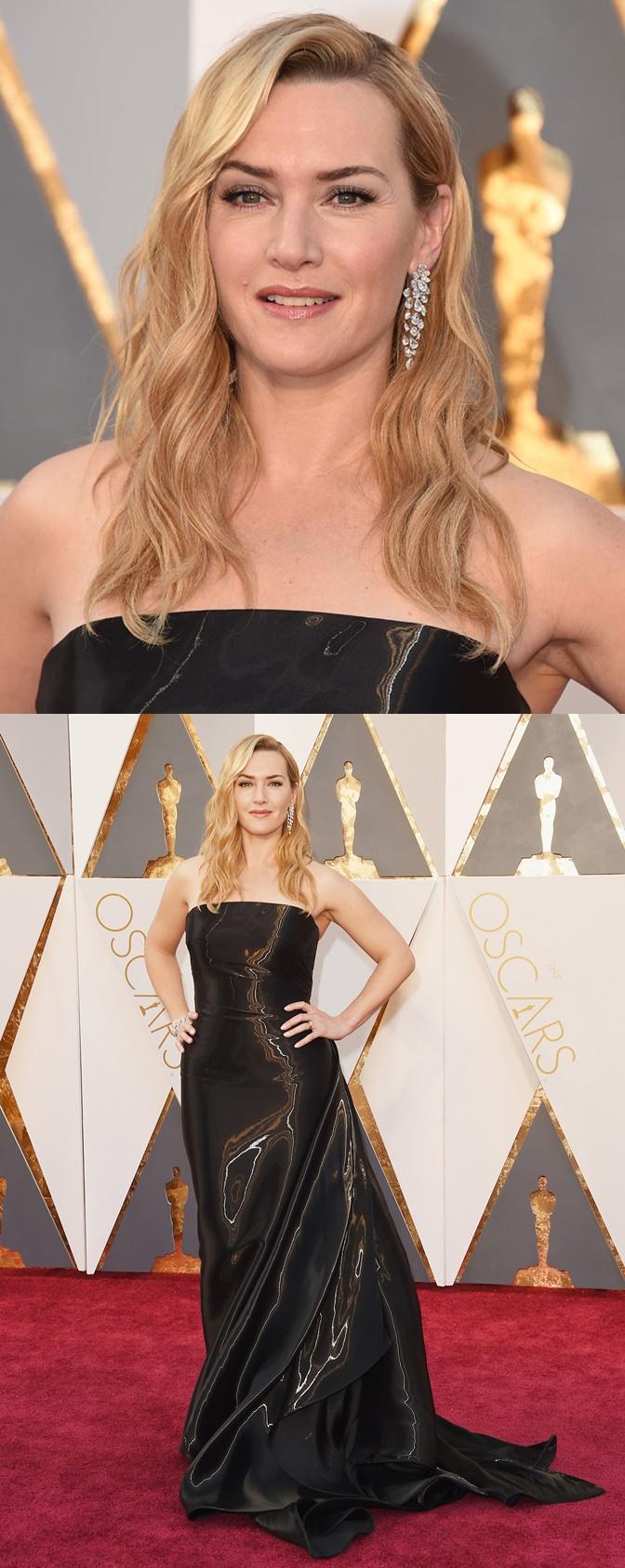 Kate Winslet veste Ralph Lauren e joias Nirav Modi