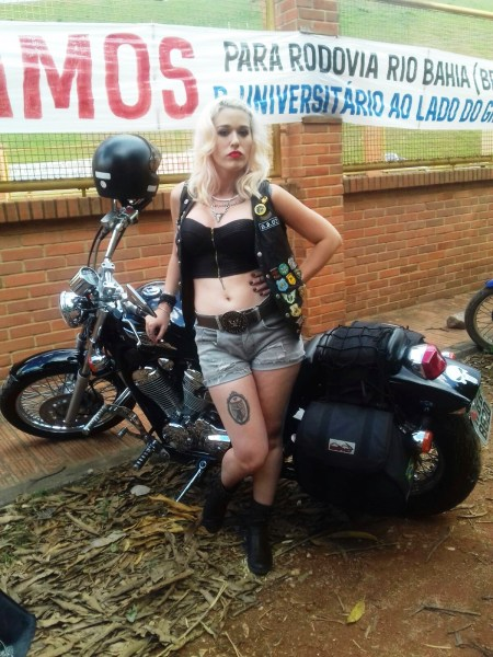 toper couro motociclista