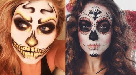 Sugestões de maquiagem para o dia de Los Muertos