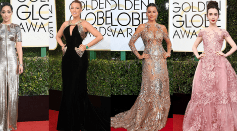 Red Carpet Golden Globe Awards 2017, prata reinou absoluto!