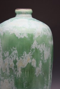 Great greens and yellows pop up along Texas highways in spring to inspire this large decorative bottle