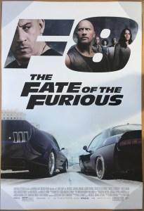 szybcy i wsciekli The Fate of the Furious poster
