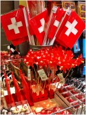 Swiss flags aplenty
