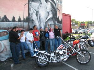Cast of DINERS with Easy Rider Bikes