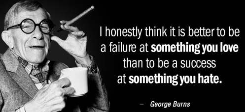 George Burns' best one-liner about meaningful work